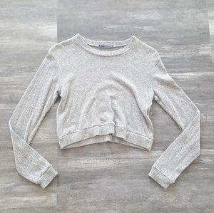 Grey Cropped Melville Soft Long Sleeve